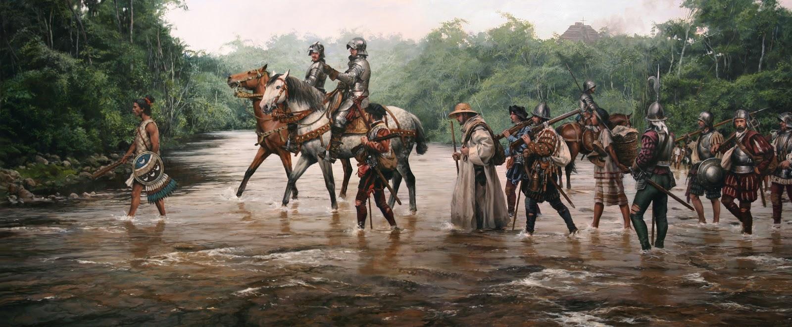 Armamento y equipo de los conquistadores españoles en el norte de América Cuadrfored4