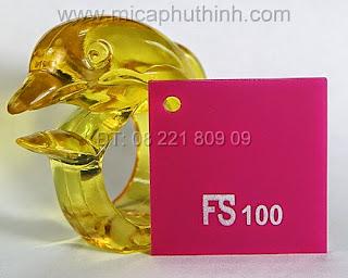 Mica màu hồng FS 100