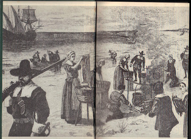 "Illustration from ""A Pilgrim Returns to Cape Cod,"" written in 1946 by Edward Rowe Snow"