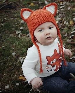 kiểu mũ len tai mèo cho bé trai