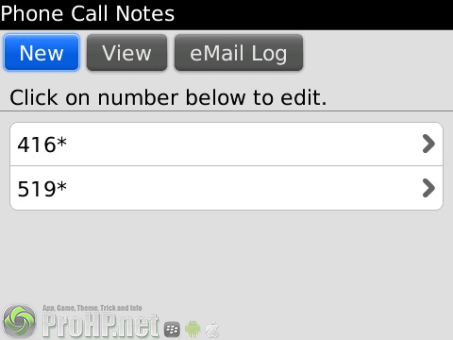 Phone Call Notes v1.0.5 for BlackBerry
