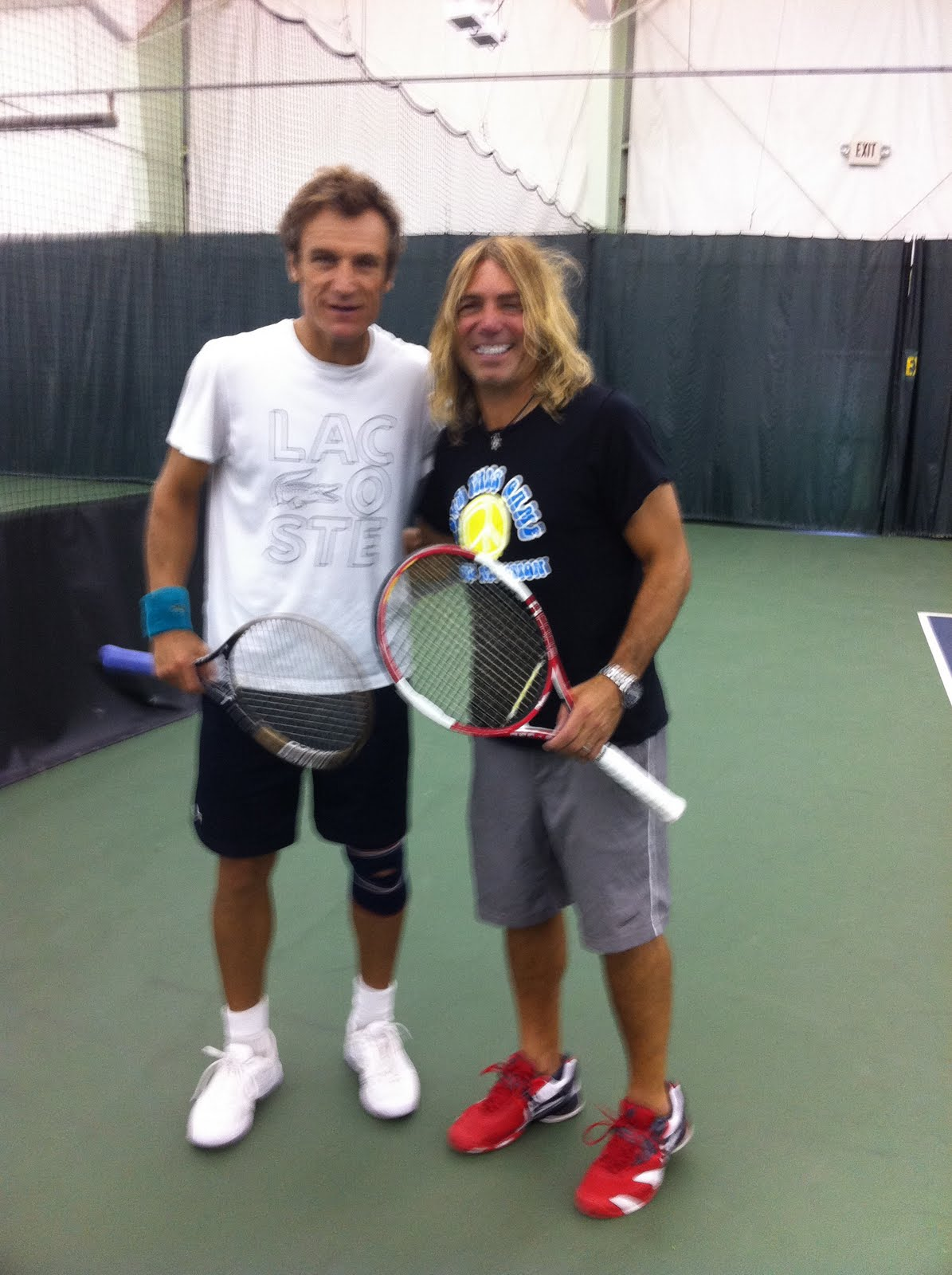 Tennis Addiction Sports Club Mats Wilander and Cameron Lickle at TA