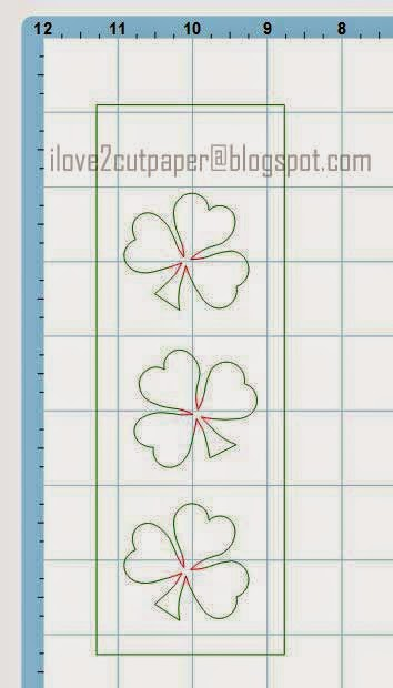 Using the Cut Path Tool for my clover leaves