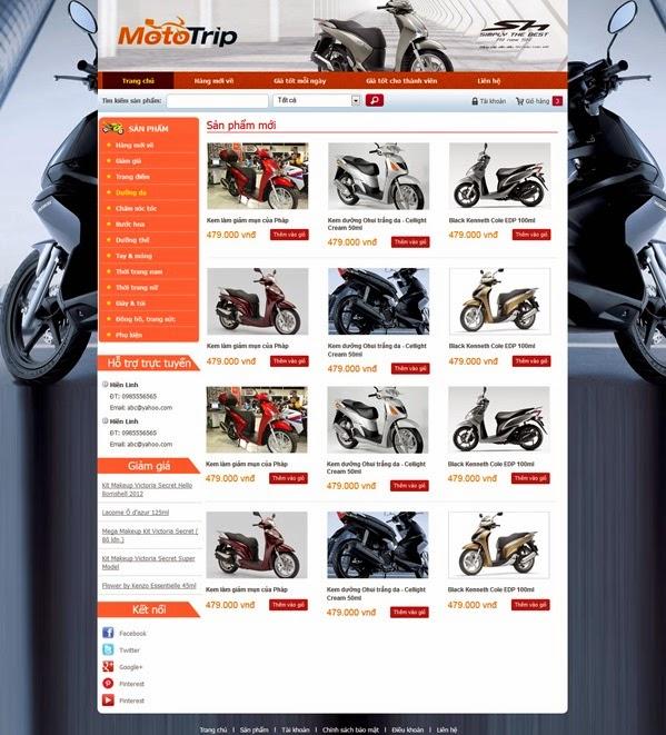 thiết kế website bán hàng xe đạp điện giá rẻ