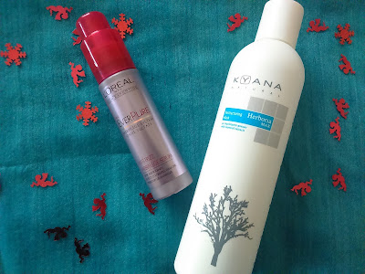 Kyana Restructuring Mask and L'oreal Everpure Anti-Frizz serum