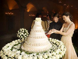 ten most expensive weddings Tom Cruise and Katie Holmes