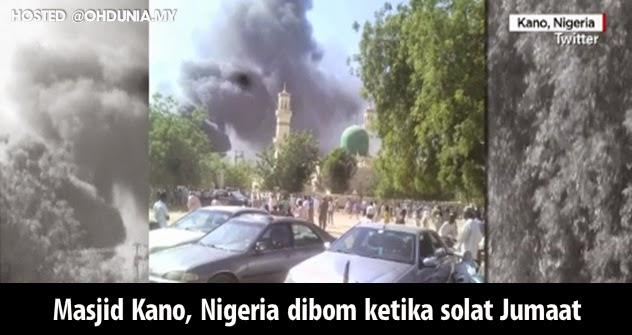 Masjid Kano Nigeria dibom ketika solat Jumaat, 120 maut 270 cedera