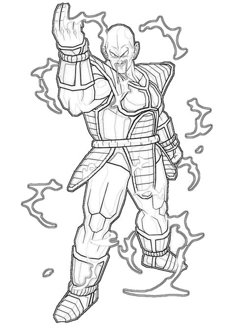 nappa-attak-coloring-pages