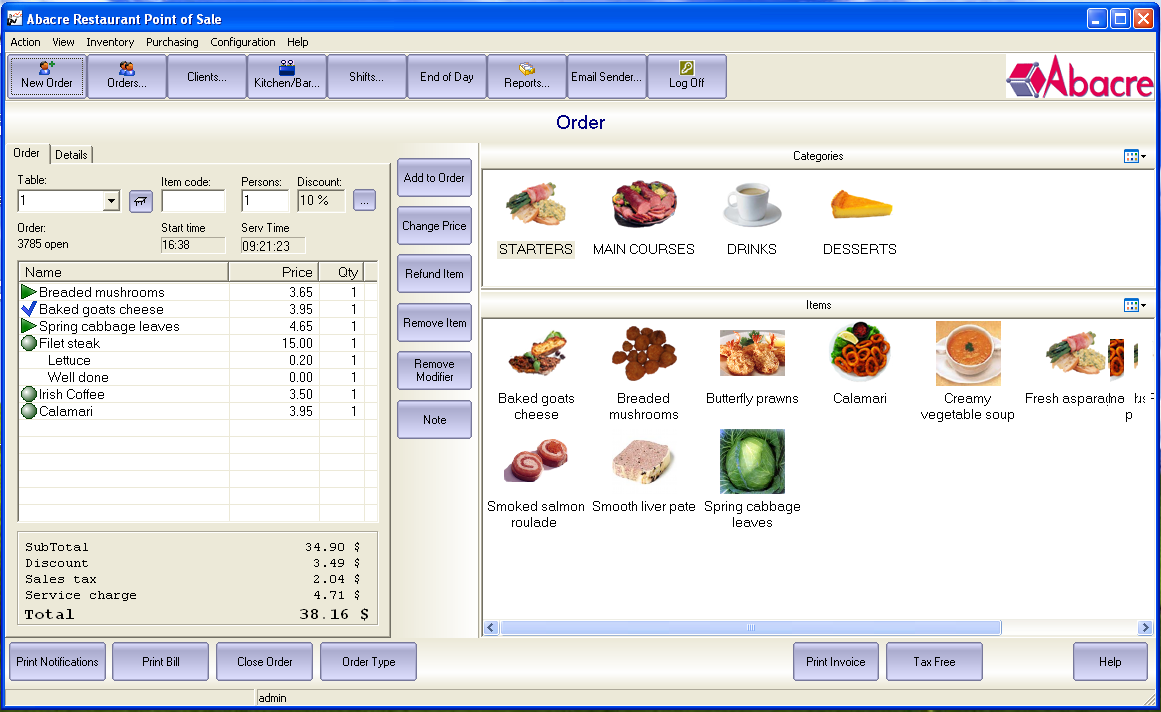 Abacre Restaurant Point of Sale - Software - 3 Photos ...