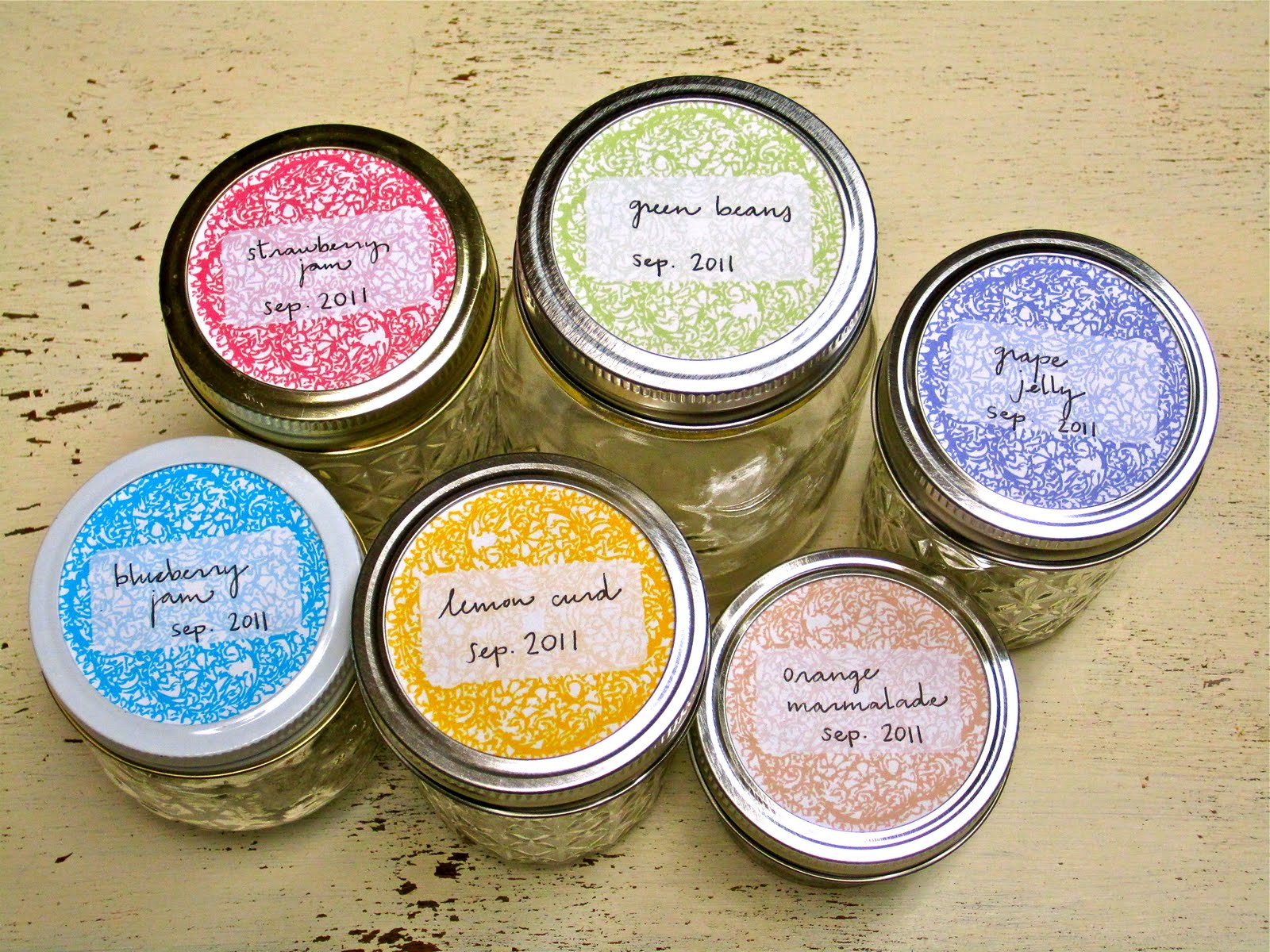 Resource image pertaining to printable labels for jars