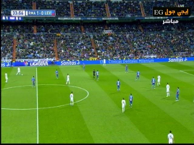 اهداف مبارة ريال مدريد و ليفانتي  2- 0