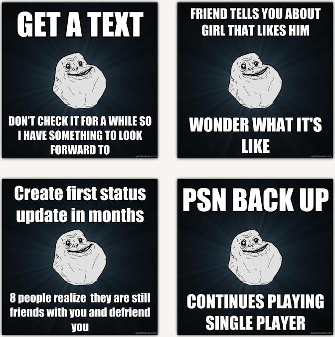 Fa Forever Alone Rage Sad Memes Best   Meme Center