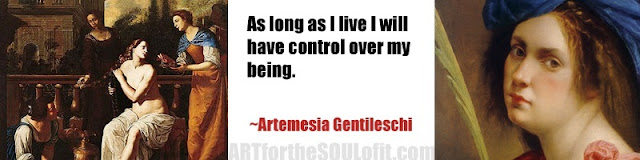 artemesia gentileschi quote as long as i live...
