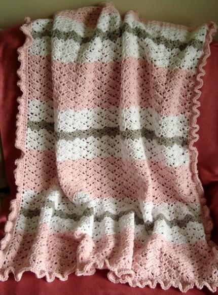 Pink Baby Girl Blanket - Free Pattern