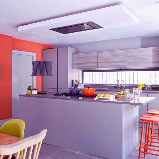 Grey And Tangerine Kitchen Diner Beautiful Kitchens House to home