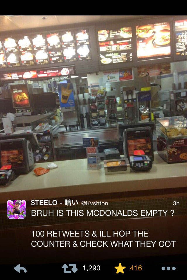 Oh Yeah Apa Yang Mamat Ni Buat Bila McDonalds Takde Orang Langsung