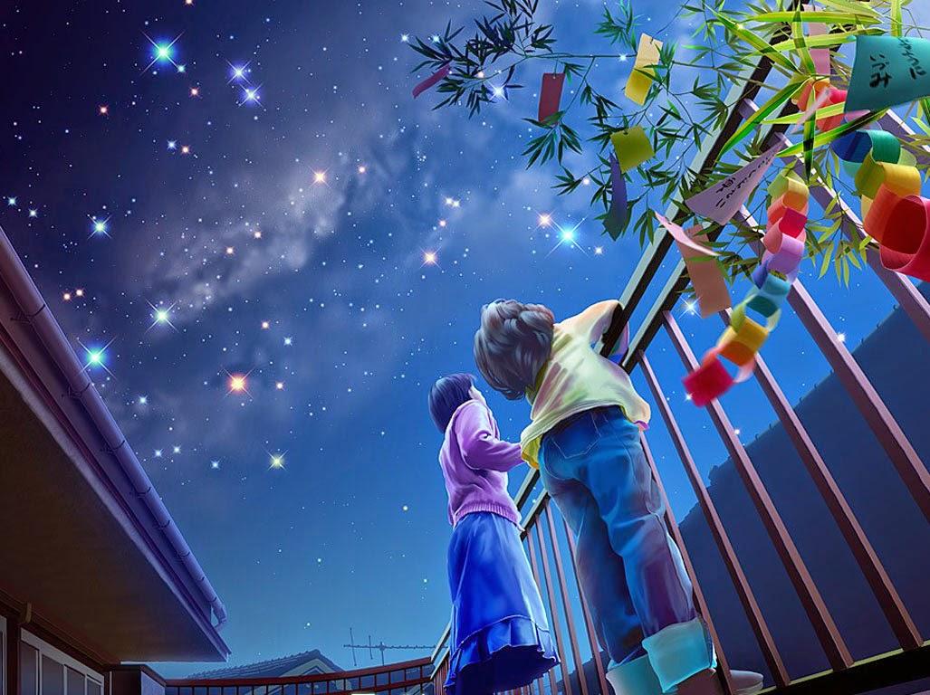 夜空中的蓝*
