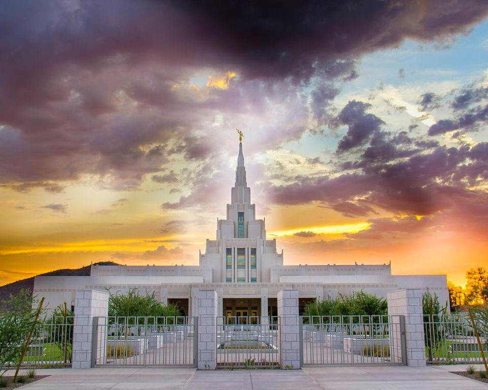 Gilbert Arizona Temple until Phoenix Temple is built