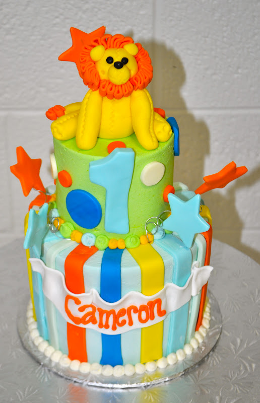 Leahs Sweet Treats Lion 1st Birthday Cake
