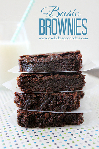 Basic Brownies from Love Bakes Good Cakes