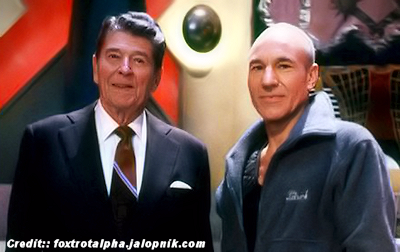 President Ronald Reagan Visited Star Trek
