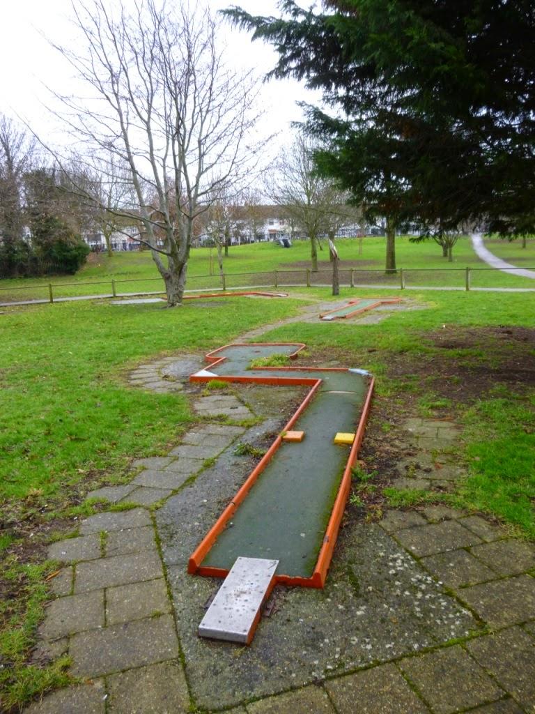 Minigolf course at Woodlands Park in Gravesend, Kent