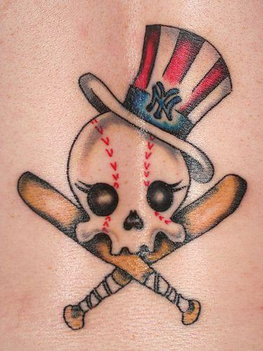 Art sci patriotic new york tattoos for New york yankees tattoos designs