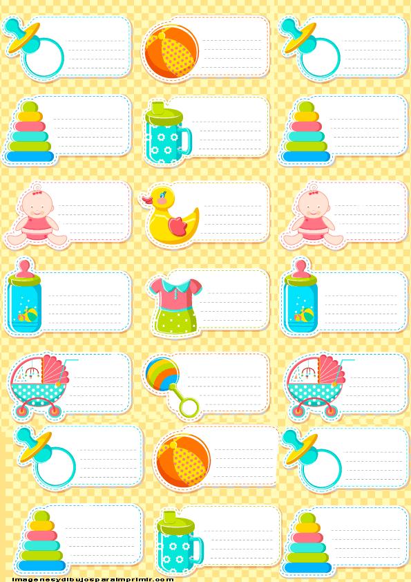 Etiquetas para bebe recien nacidos