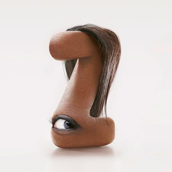 Shocking Hairy Typeface Made of Human Flesh2