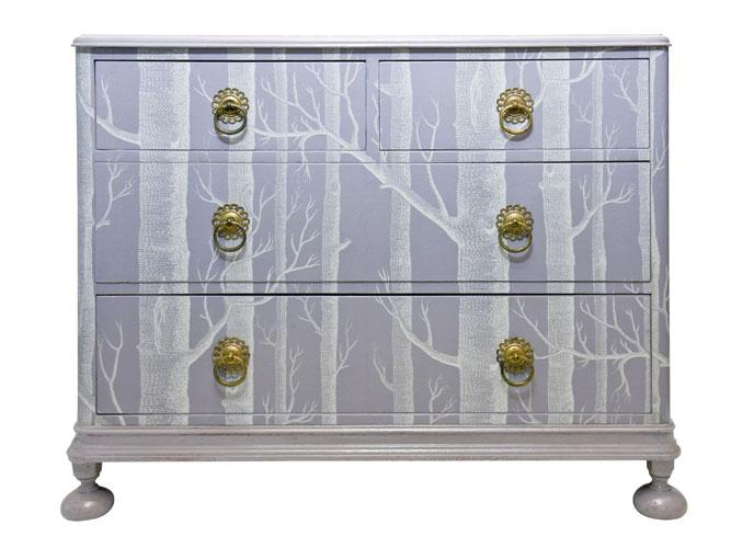Wallpaper Covered Dresser By Bryoine Porter