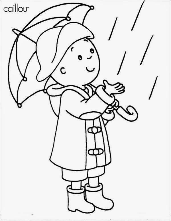 Print Free For Children About Activities Caillou Coloring Pages