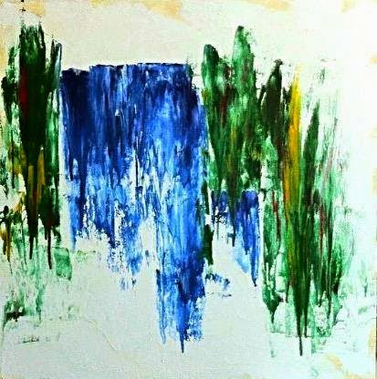 cascata (50x50 olio su tela)