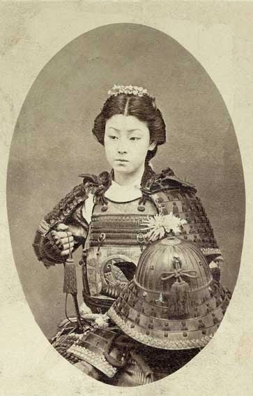 52 photos of women who changed history forever - Photograph of a samurai warrior. (c. late 1800s)