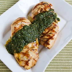 Recipe for Grilled Lemon-Cumin Chicken with Charmoula Sauce | Kalyn's ...