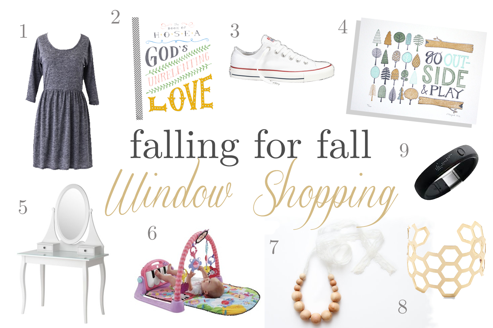 Blog Idea: Create a window shopping collage. Share what your finds for the season you're in! { Strong and Sweet}