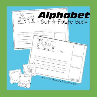 Alpahbet Cut and Paste Worksheets