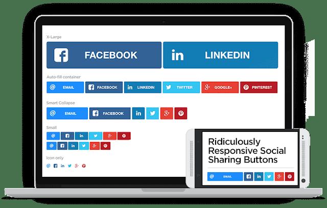 Cara Pasang Tombol Share Responsive Keren dan Unik  (RRSSB) untuk Blogger