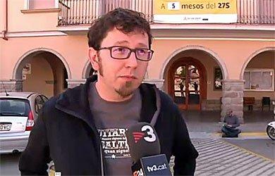 alcalde de Navàs, Jaume Casals (con perilla de uniforme)