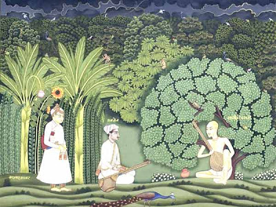 Miyan Tansen and his student