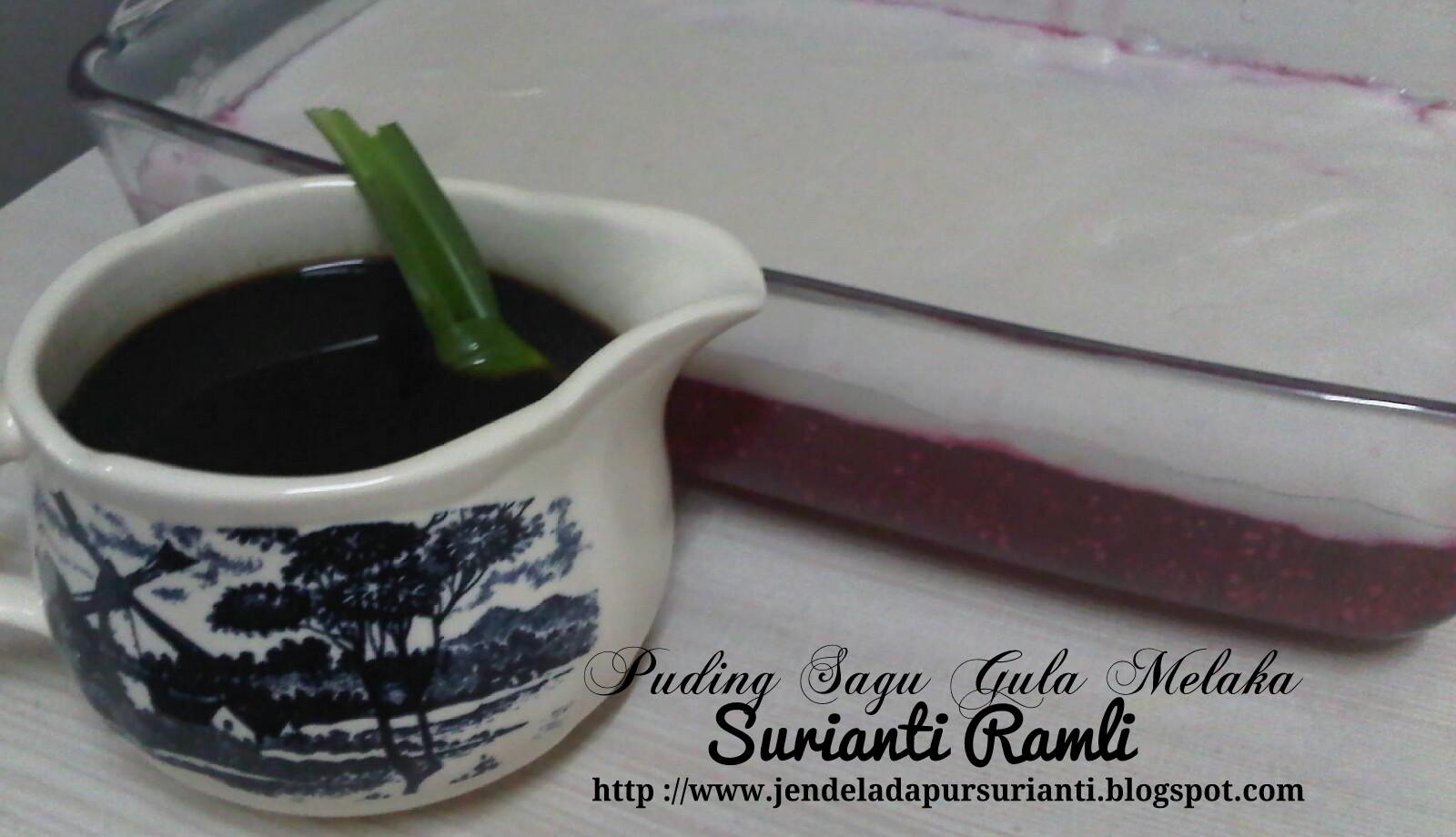 Jom Masak Puding Sagu Gula Melaka