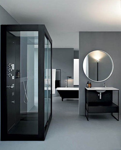 Contemporary Bathroom With Aluminium Shower