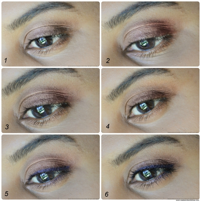 Easy Everyday Summer Makeup Tutorial - Soft Rose Brown Neutral Eyes - Steps