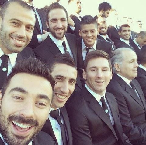 las Fotos de Lavezzi cuando Argentina se sacó la foto formal antes de ...