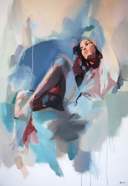 Richard White (twelvty) pinturas aquarelas mulheres manchadas