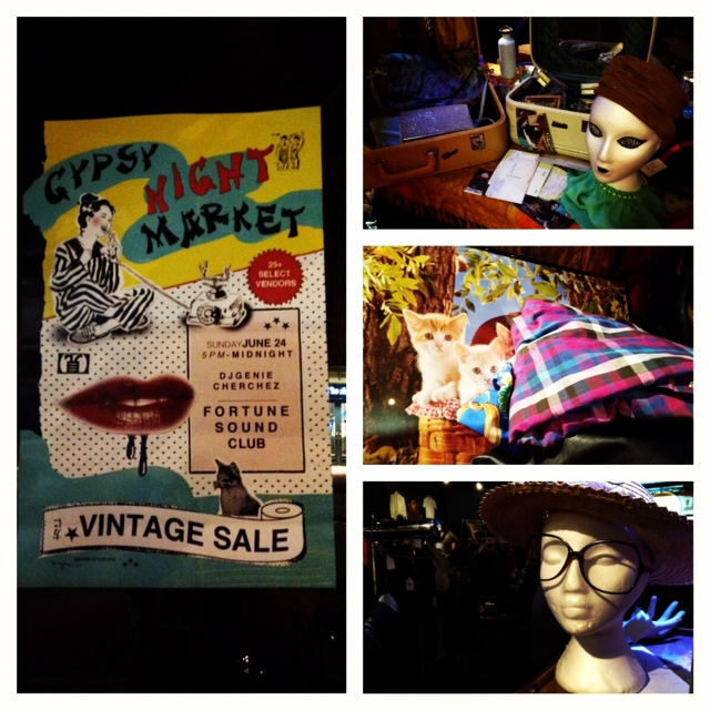 Gypsy Night Market vintage sale at the Fortune Sound Club Vancouver, Fortune Sound Club, Gypsy Night Market, Vintage sale