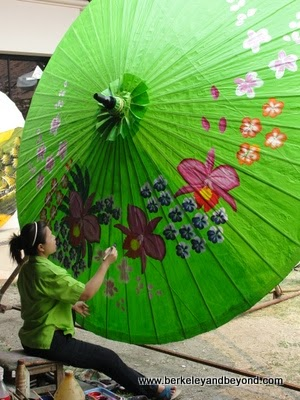 umbrella making, Borsang Village, Sankamphaeng, Thailand