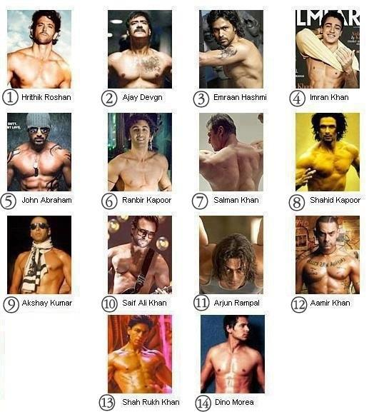 six pack of Indian actors
