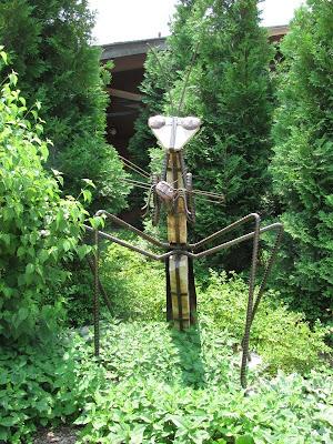 Giant Praying Mantis Sculpture Reiman Gardens