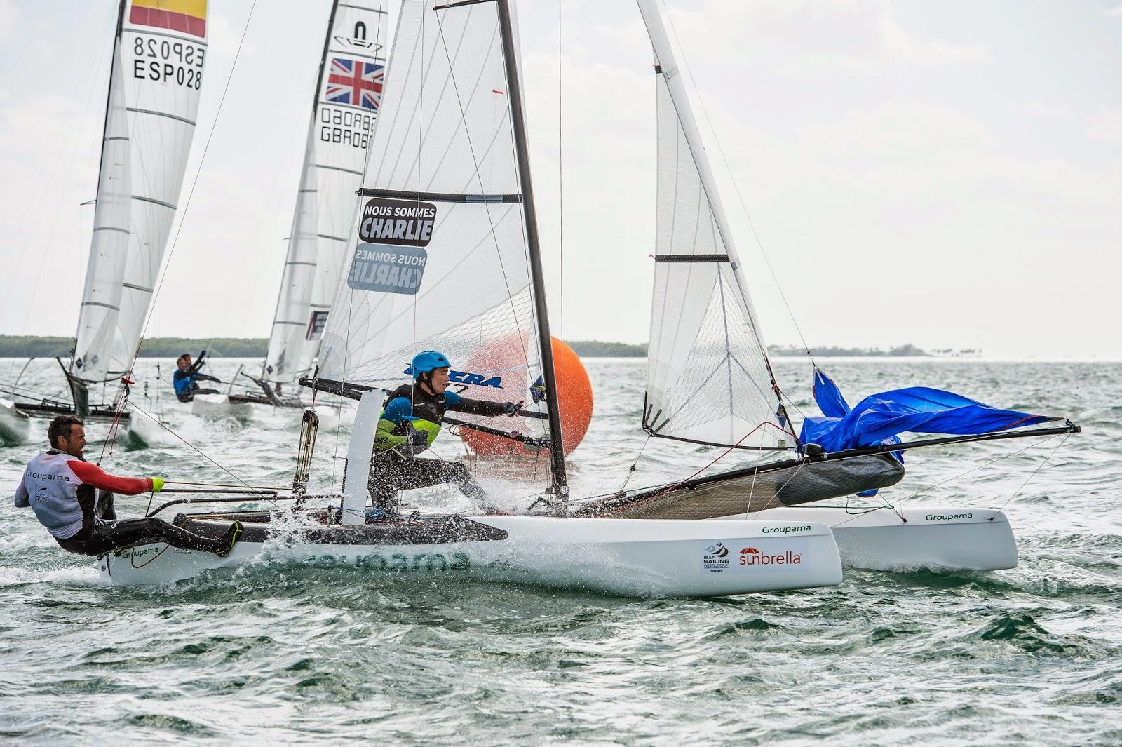 Franck Cammas et Sophie de Turckheim de retour à la compétition à Miami.