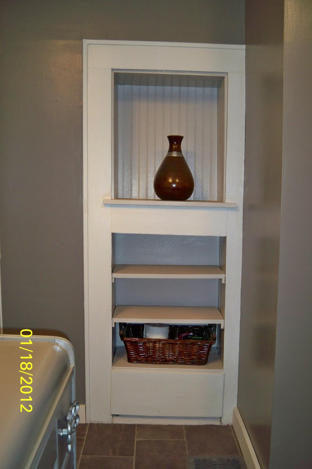 Built in Shelf Behind Door
